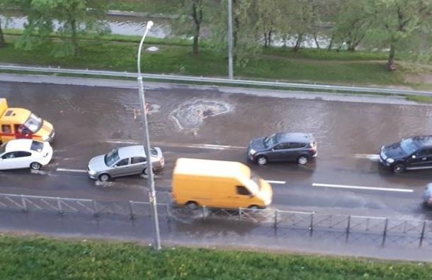 «Купальный сезон начался»: Фонтан разлился наБелградской