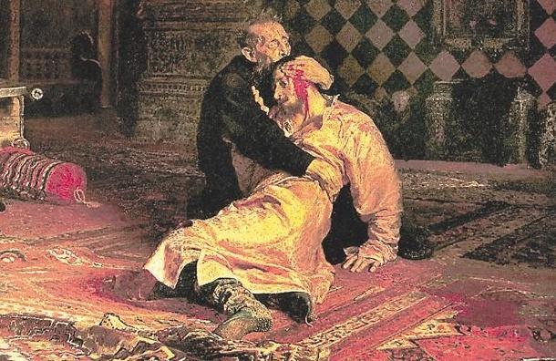 Картину «Иван Грозный исын его Иван» порвал посетитель