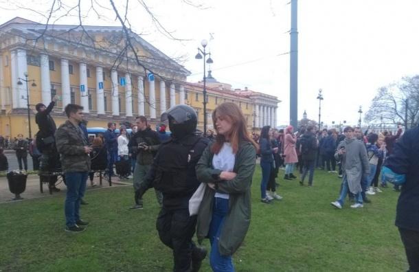 Намитинге вПетербурге задержали более 50 человек