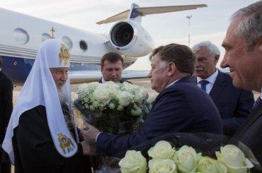 Патриарх Кирилл прилетел вПетербург начастном самолете