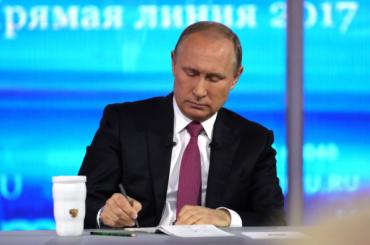 Прямая линия сПутиным может пройти доначала ЧМ-2018