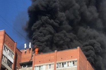 Пожар вобщежитии наНаставников потушили