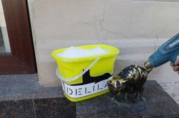 Скульптуру котенка Фунтика отмыли