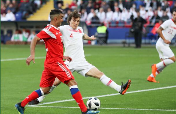 Россия иТурция сыграли вничью втоварищеском матче