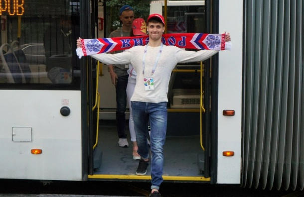 Более 95 тысяч пассажиров перевезли наобщественном транспорте вдень матча Россия— Египет