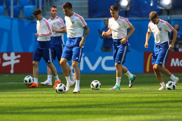 Россия - Египет, тренировка в Петербурге 18 июня 2