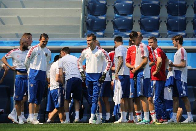 Россия - Египет, тренировка в Петербурге 18 июня 4