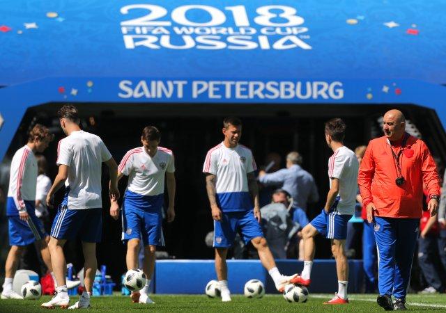 Россия - Египет, тренировка в Петербурге 18 июня 8