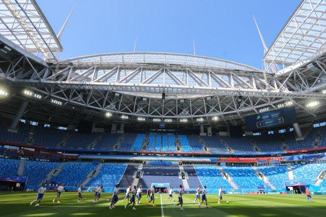 Россия - Египет, тренировка в Петербурге 18 июня 6