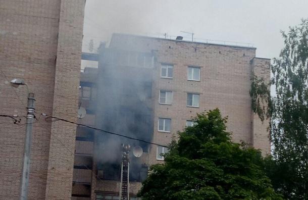 Пожарные тушили дом наКовалевской улице