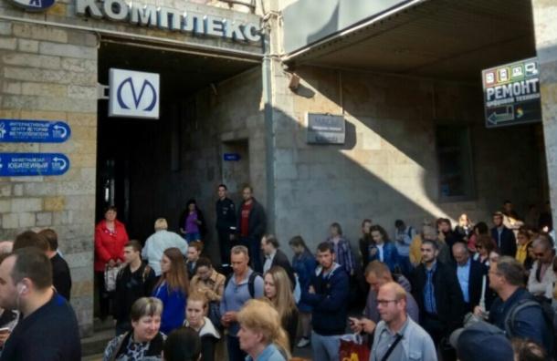 Метро «Приморская» закрыта для пассажиров