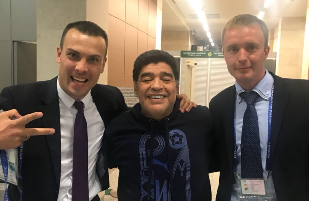 Марадона объяснил, что сним произошло вПетербурге