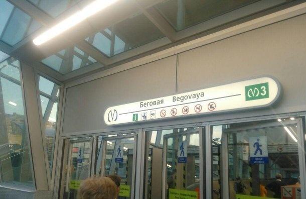 Поезда позеленой ветке метро ходят только до«Приморской»