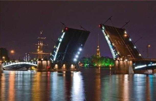 Мосты Петербурга с12 на13июня разводиться небудут