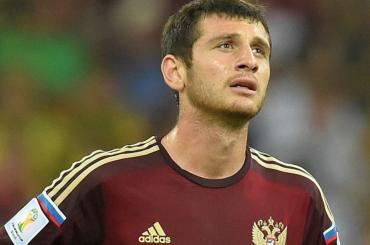 Дзагоев получил травму на24-й минуте матча открытия ЧМ-2018