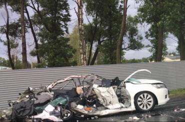 ДТП сучастием маршрутки произошло наПетергофском шоссе, есть погибшие