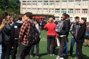 ЕГЭ порусскому впетербургской школе прервали из-за пожара