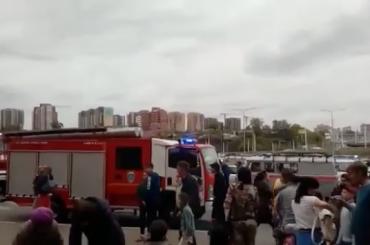Восемь детей пострадали при пожаре виркутскомТЦ