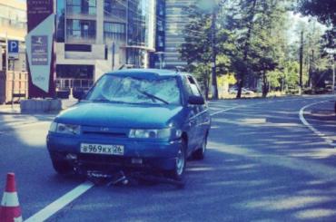 «Лада» сбила велосипедиста наПриморском шоссе