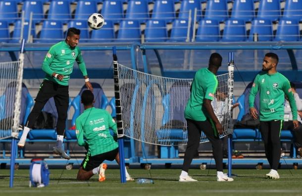 ВПетербурге прошла открытая тренировка сборной Саудовской Аравии
