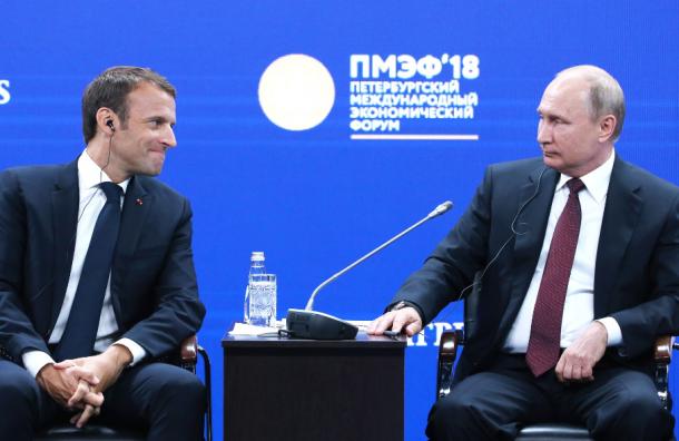 Макрон сПутиным посмотрят вместе финал ЧМ-2018
