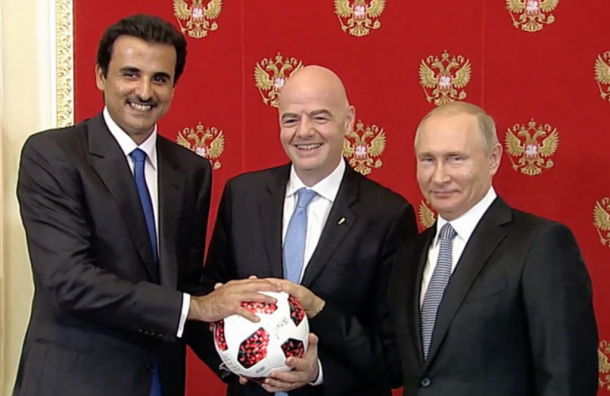Путин сказал эмиру Катара эстафету Чемпионата мира пофутболу
