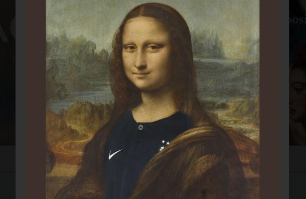 Лувр переодел Мону Лизу вфутбольную форму