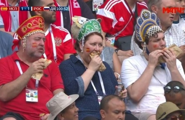 ВЦИОМ: заматчем Россия— Испания следил 71% россиян