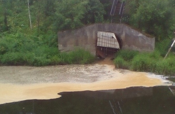 Река Славянка запахла ацетоном