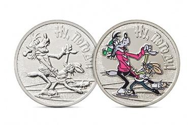 Центробанк выпустил монеты вчесть «Ну, погоди!»
