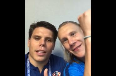 Игрок сборной Хорватии после победы над Россией выкрикнул: «Слава Украине!»