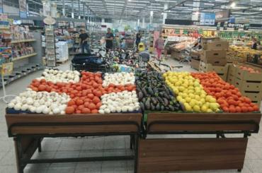 Бельгию иАнглию поддержали овощами вПетербурге