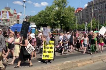 Хельсинки встречают Путина иТрампа массовыми протестами