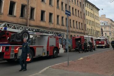 Движение поКурской улице закрыли из-за пожара