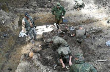 Останки бойцов Красной армии нашли вКрасном Бору