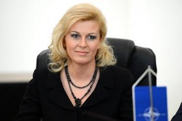 Президент Хорватии прибыла вСочи обычным рейсом