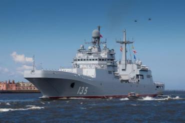 «Иван Грен» и«Королев» приняли участие втренировке парада ВМФ