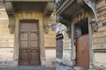 Коммунальщики поменяли исторические двери дома-памятника нажелезные