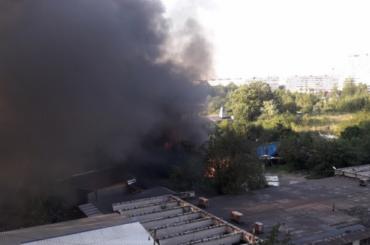 Здание «Ленфильма» загорелось вПетербурге