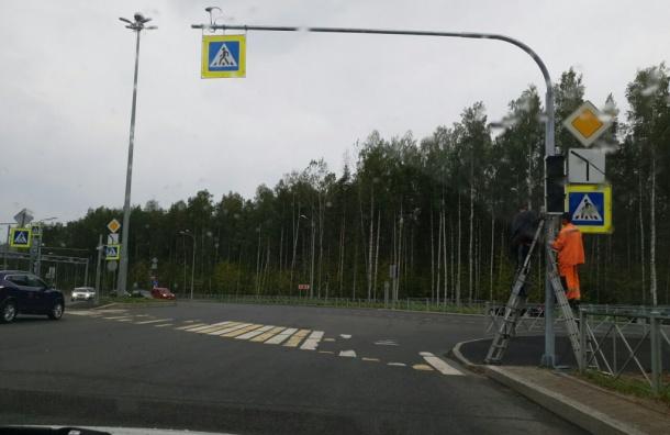 Светофоры устанавливают наперекрестке Суздальского идороги вКаменку