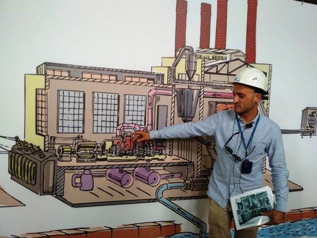 Дмитрий Ганапольский в турбинном зале, где нельзя фотографировать оборудование, а можно только рисунок