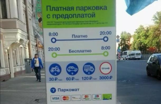 ВПетербурге временно нельзя будет оплатить парковку поСМС