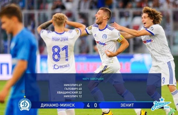Футболисты «Зенита» попросили прощения запозор вБелоруссии