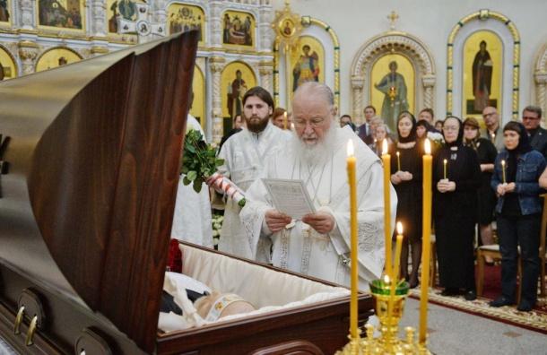 Патриарх Кирилл отпел петербургского мецената Найвальта