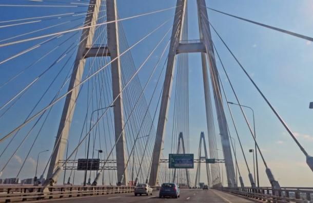 Две полосы перекроют наКАД врайоне вантового моста