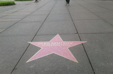 Звезду сименем Сенцова установили наНевском проспекте