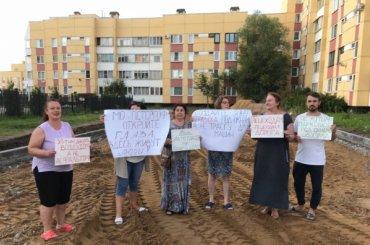 Жители Петергофа вышли против строительства дороги