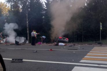 Человек погиб встрашной аварии на«Скандинавии»