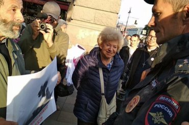 В Петербурге проходит акция вподдержку голодающего Сенцова