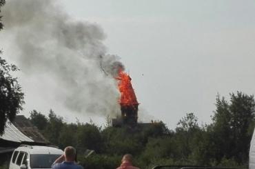 Церковь XVIII века сгорела вКарелии